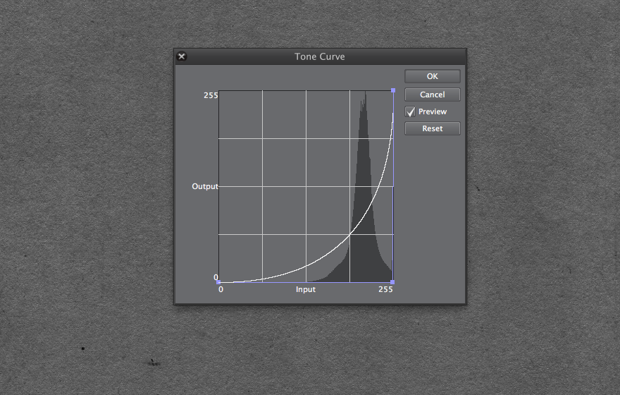 Tone curve  for paper